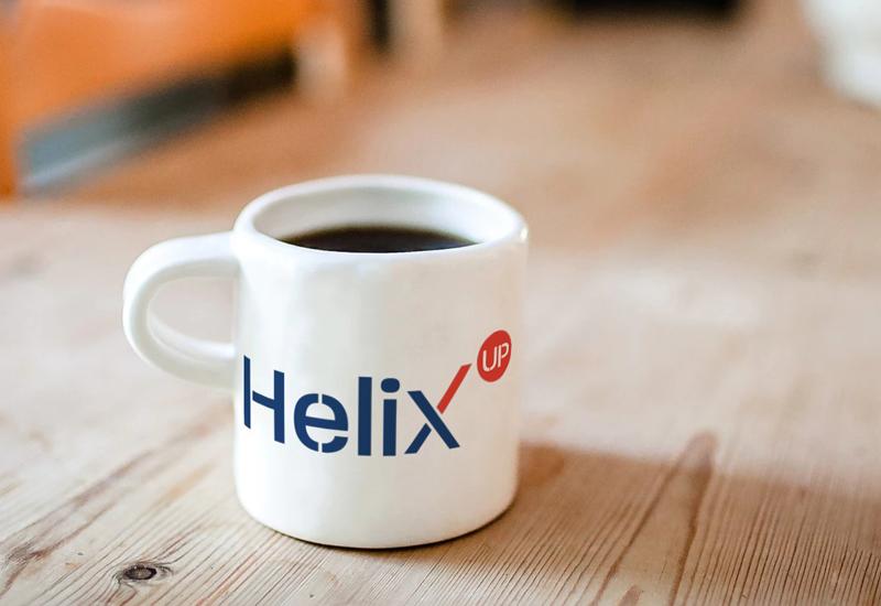 Taza con imagotipo de Helix up