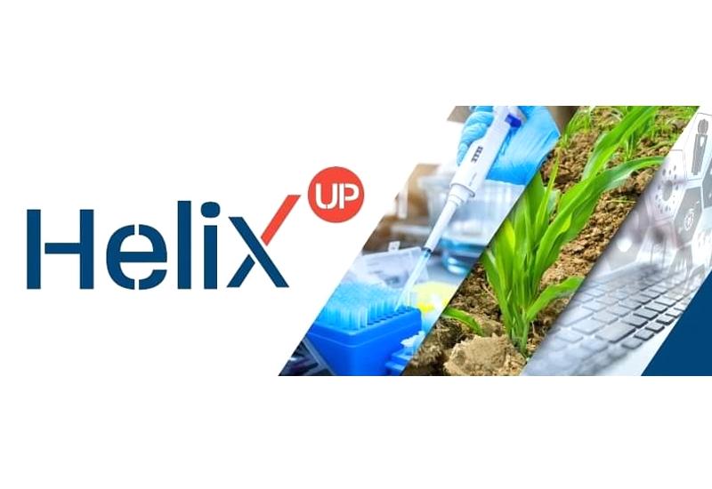 Imagotipo Helix up y fotografías