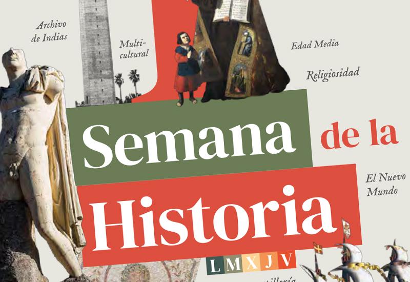 Diseño de folleto I Semana de la Historia. UPO