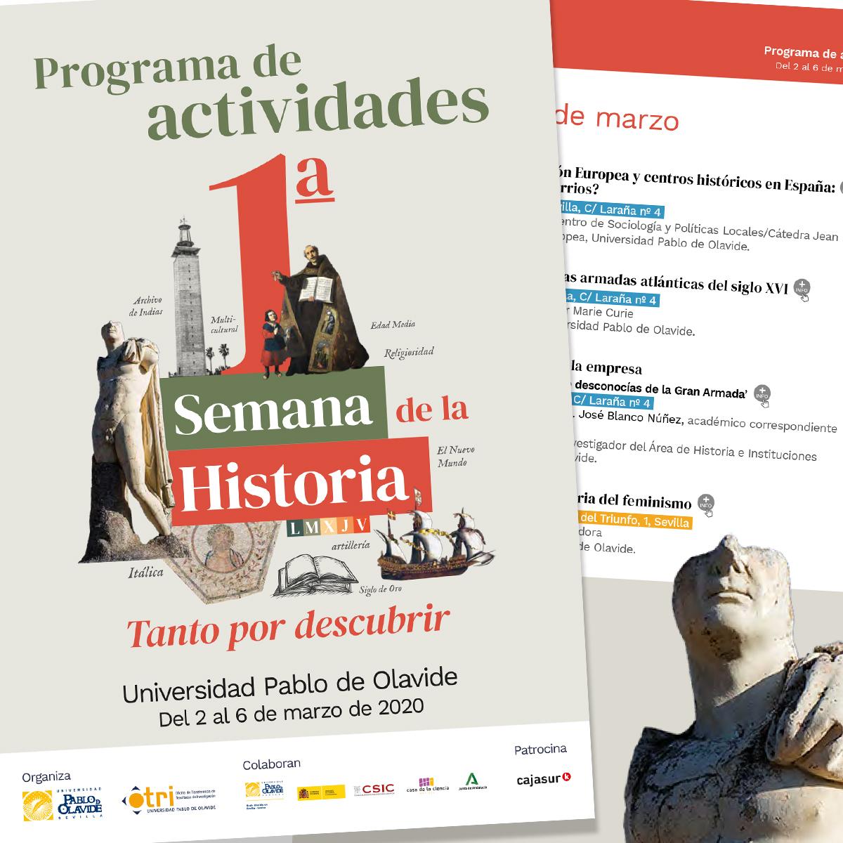 Diseño de folleto I Semana de la Historia