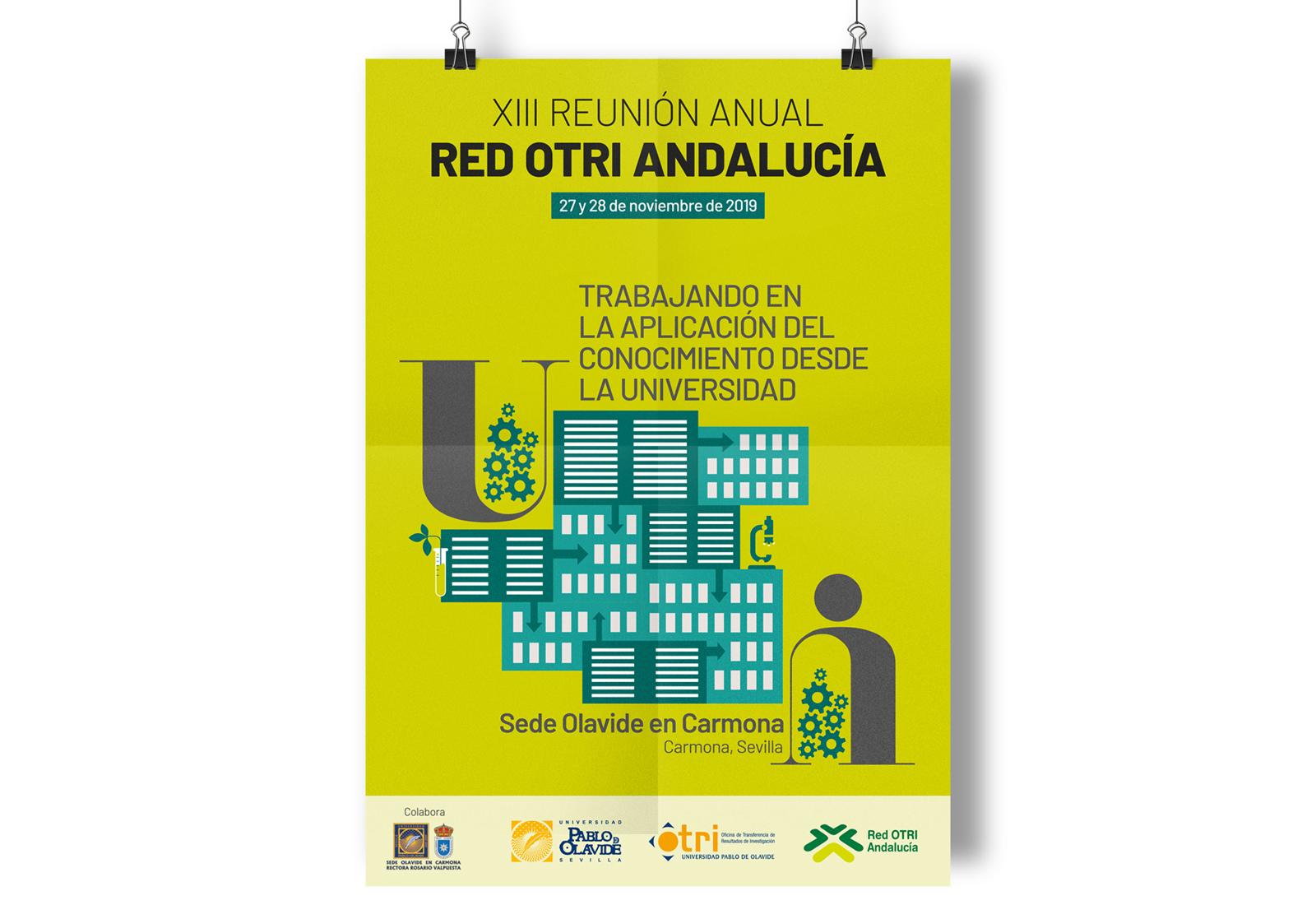 Diseño de imagen de Congreso OTRI-UPO. Diseño de cartel