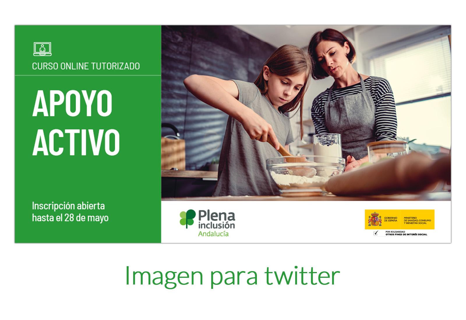 Diseño de imagen para twitter de oferta de formación