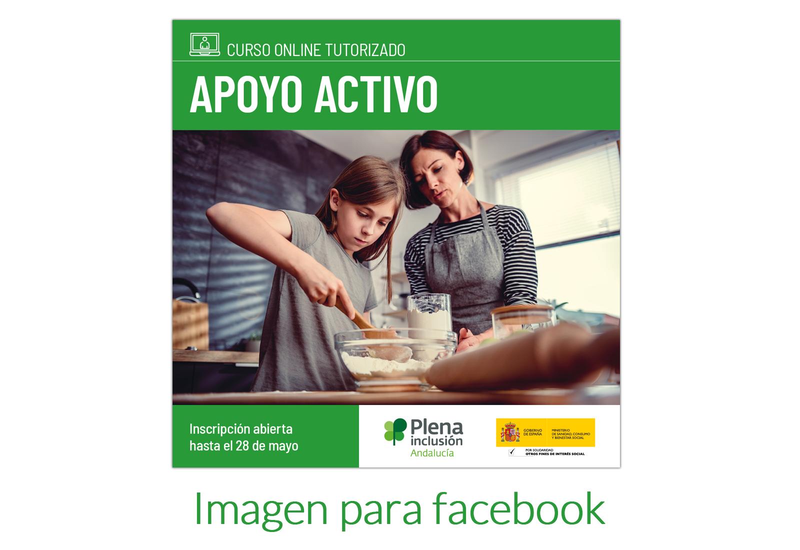 Diseño de imagen para facebook de oferta de formación