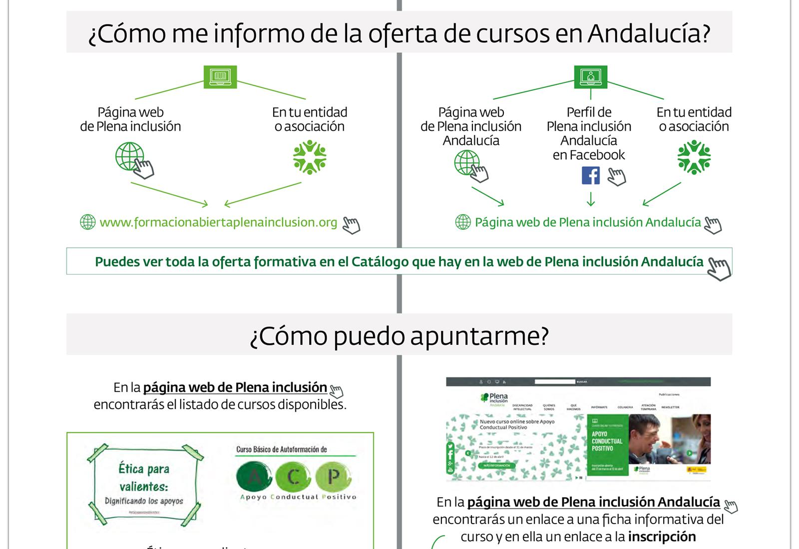 Diseño de infografía oferta formación Plena inclusión Andalucía