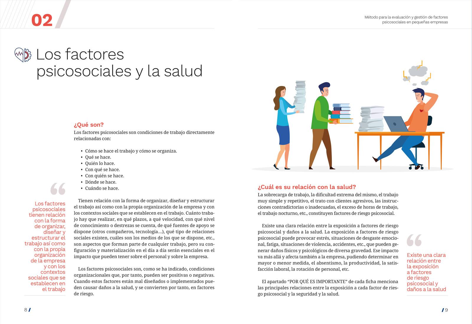 Diseño y maquetación de Método para la evaluación y gestión de los factores psicosociales en pequeñas empresas
