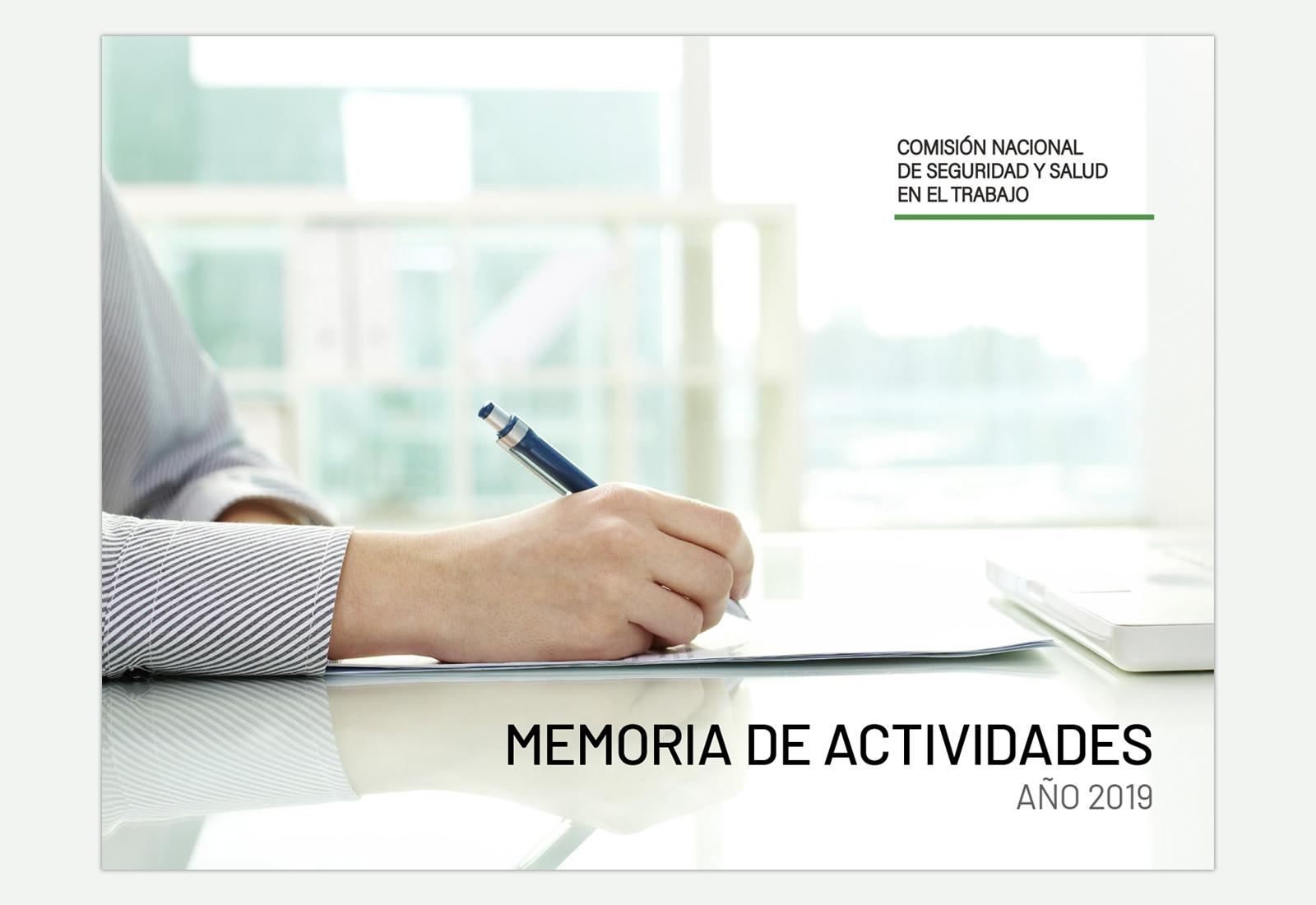 Maquetación memoria actividades 2019 - CNSST