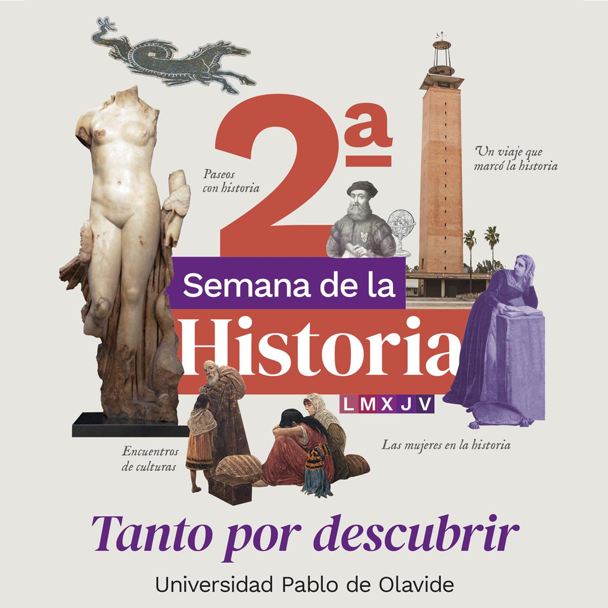 Diseño de línea gráfica. 2ª Semana de la Historia. Universidad Pablo de Olavide